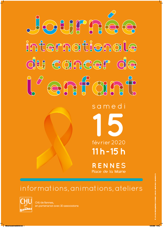 JOURNÉE INTERNATIONALE DU CANCER DE L'ENFANT A RENNES.
